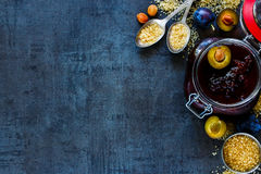 Making plum jam Stock Images