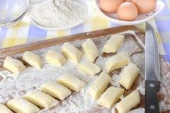 Making potato dumplings Royalty Free Stock Image