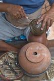 Making pottery Stock Image