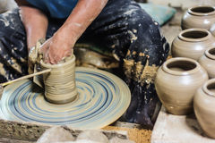 Making pottery Stock Photo