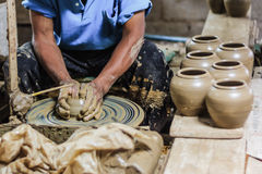 Making pottery Stock Photography