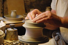 Making pottery Stock Image