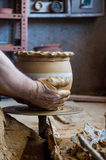 Making pottery Stock Images