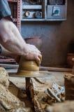 Making pottery Royalty Free Stock Photo