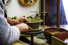 Making pottery Royalty Free Stock Photography