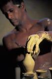 Making pottery, Trinidad Royalty Free Stock Photos