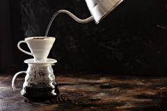 Free Making Pour Over Coffee Royalty Free Stock Images - 135797649
