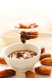Making pralines with dates Royalty Free Stock Photography