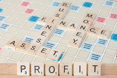 Making PROFIT Fit In Business And Finance stock images