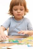 Making puzzle Stock Photo