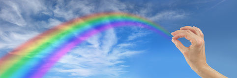 Making a Rainbow for You Royalty Free Stock Photo