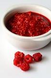 Making Raspberry jam Stock Photos