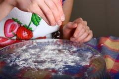 Making of ravioli manti Royalty Free Stock Image