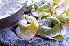 Making Ravioli Pasta Noodles Royalty Free Stock Images