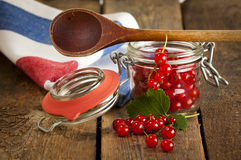 Making redcurrant jam Royalty Free Stock Photography