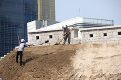 Making repairs in Seoul. Royalty Free Stock Photo