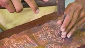 Making repousse. Workshop in Cambodia,Siem Reap Royalty Free Stock Images