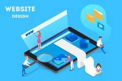 Making responsive web design and site development. royalty free illustration