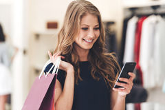 Making the retail connection. Stock Image