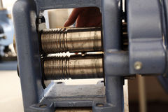 Making rings, rolling rods royalty free stock photos