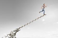 Making risky steps . Mixed media Royalty Free Stock Photos