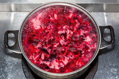 Making Roselle juice Stock Photo