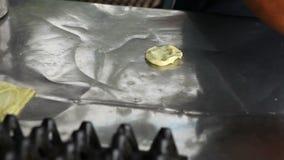 Making of Roti stock video