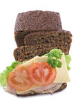 Making Rye Bread Sandwiches Stock Photography