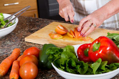 Making salad Royalty Free Stock Image