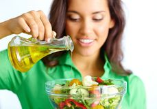 Making Salad Royalty Free Stock Image