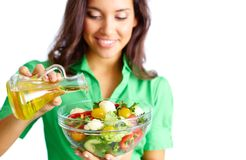 Making Salad Royalty Free Stock Images