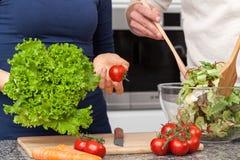 Making a salad Royalty Free Stock Photo