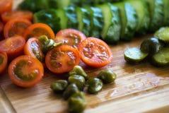 Making salad, marinades Stock Photo