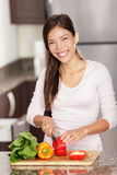 Making salad woman Royalty Free Stock Images