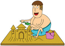 Making sand castle Royalty Free Stock Photography