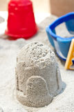 Making Sand Castles Stock Photos