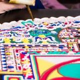 Making Sand mandala Stock Image