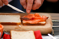 Making a sandwich Stock Images