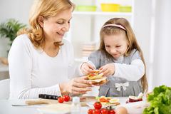 Making a Sandwich Royalty Free Stock Photography