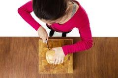 Making sandwiches Stock Image