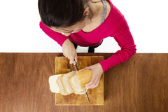 Making sandwiches Stock Photos