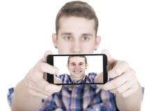 Making self portrait Stock Photo