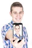 Making self portrait Royalty Free Stock Photo