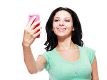Making selfie Royalty Free Stock Photography