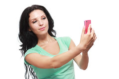 Making selfie Royalty Free Stock Images