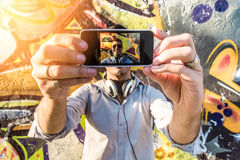 Making the selfie Stock Photography