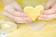 Making Shortbread Cookies Royalty Free Stock Photo