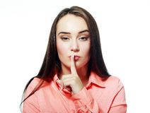 Making silence sign Royalty Free Stock Photography
