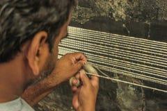 Making of silk Patola 4 Stock Photo