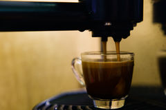 Making single shot espresso Royalty Free Stock Photo